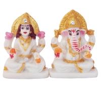 Marble Dust Lakshmi Ganesha