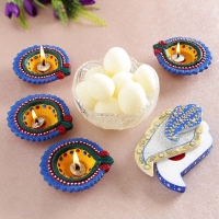 Pearl Candle Stand and Roli Chawal Container