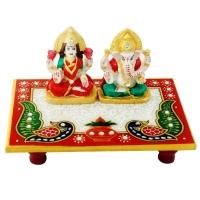 Marble Choki Lakshmi Ganesha