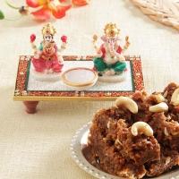 Marble Laxmi Ganesha with Dodha Barfi