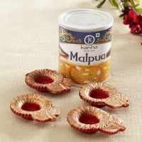 Diwali Malpua Hamper with Diyas