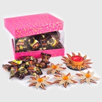 Gift Box of Chocolates with Floating Diyas Set