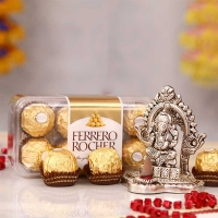 Ferrero Rocher Chocolate with White Metal Ganesh