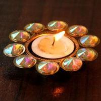 Rainbow Stones Deepak : Diwali Diyas