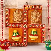 Laxmi Ganesh Swastik Hanging : Laxmi Ganesha Gifts