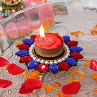 Pearl and Kundan Work Floating Diya