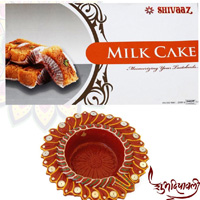 Milk Cake with Diya