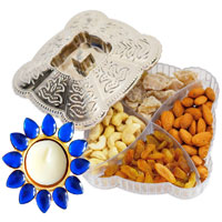 Dryfruit Box With Crystal Diya